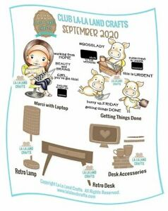 La-La Land Crafts September 2020 CLUB STAMP & DIE KIT