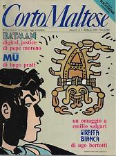 CORTO MALTESE 2 anno IX 1991 pratt moreno maramotti tosi bertotti gaiman mckean