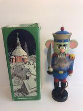 "Vintage Erzgebirge Nussknacker 9.5"" Mouse King Nutcracker With Original Box"