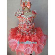 Jenniferwu Infant/toddler/kids/baby/children Girl's Glitz Pageant Dress G016