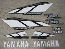 2001 Yamaha Banshee Black/White/Silver Decals Stickers Quad Graphics 10pc kit
