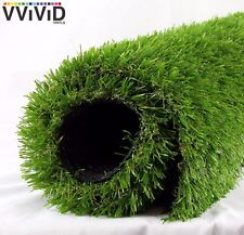 """Synthetic faux grass vinyl lawn turf roll 40"""" x 12ft"""