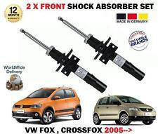 for VW FOX CROSSFOX 1.2 1.4 TDI 2005> 2x Asse Ant Ammortizzatore Set