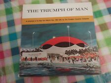 """THE TRIUMPH OF MAN""  NEW YORK WORLD'S FAIR 1964-65 7"" EP RED VINYL"