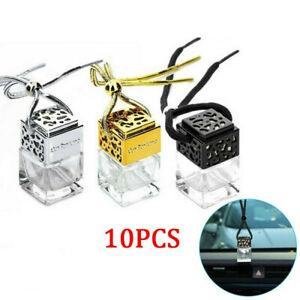 10x Mini Air Car Perfume Ornament Hanging Gadget Diffuser Empty Bottle Freshner
