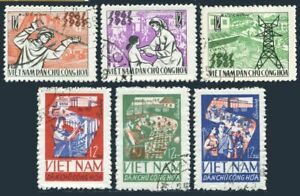 Viet Nam 375-378,CTO.Michel 394-396. Completion of 1st Five-Year Plan,1965.