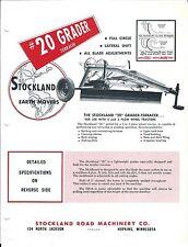 Equipment Brochure - Stockland - 20 - Grader Terracer - c1950's (E3585)