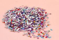 2000pcs Mixed Shape Nail Art Rhinestones Acrylic Decoration Flat back DIY Gems