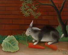 The Rabbit's Meal by Henri Rousseau 60cm x 48cm Art Paper Print