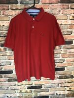 Tommy Hilfiger Red Men's Short Sleeve Polo Shirt Large