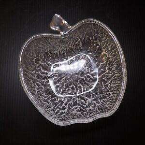 5 coupelles fruit pomme dessert apéritif verre cristal art déco table N7645