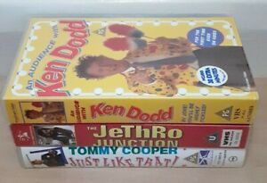 3x comedy VHS tapes. Ken Dodd, Jethro and Tommy Cooper. U - PG rating.