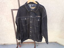 ROCA WEAR Black Denim Jeans Mens Jacket Sz 2XL