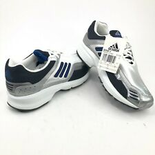 adidas Cetus W Lace Up White Silver Blue Running Shoes Mens 6.5 2001 Rare