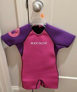Body Glove Child Springsuit Wetsuit Medium Female Pink Violet/Purple NWT