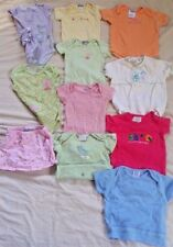 Lot Of 11 Carter's Baby Girl Clothes Bodysuits Skirt Hat Size 0-3 Months Summer
