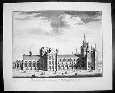 1724 Kip Large Antique  Folio Print of Peterborough Cathedral, England