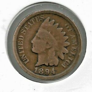 Rare Very Old Antique 1894 US Indian Head Penny Collectible Cent Collection Coin