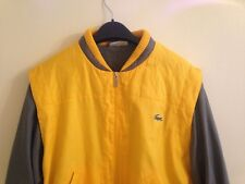 Lacoste chemise  retro yellow jacket size  small/medium pit to pit 22 length 25