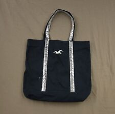 Hollister Shine Sequin Tote School Book Bag Purse Reusable Travel Navy