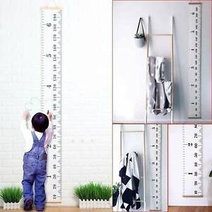 Wooden Kids Growth Height Chart Ruler Children Room Decor Wall Hanging Measure