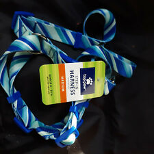 Top Paw: Blue/White Angle Stripe Step-In Adjustable Dog Harness  medium new