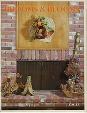 Brooms & Blooms 31 Natural Floral Country Craft Projects Wreaths Vintage Book