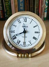 Vintage Russian SLAVA Folding Stand 11 Jewels USSR Desk Alarm Clock