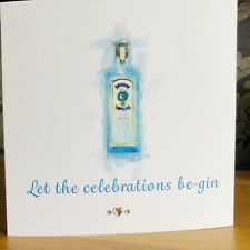 Stunning Personalised Handmade Birthday Card Gin Card Bombay Sapphire Card 🍸