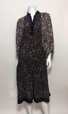 Warm NY Castle Dress in Brown Stripe Size 0/XS $585