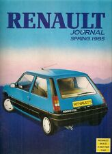 Renault Journal Spring 1985 UK Market Sales Brochure 4 5 9 11 18 Fuego 25 Trafic