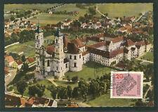 Deutschland MiNr 428 Benedikttinerabtei Ottobeuren auf Maximumkarte