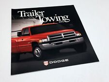 2002 Dodge Ram Dakota Durango Ram Van Ram Wagon Trailering Guide Brochure