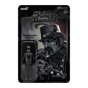 Super7 King Diamond ReAction Figure - Top Hat (Midnight Black Metal)