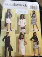 Butterick Pattern 5333 Ladies Day Evening Jacket Top Dress Skirt Pants 6 8 10 12