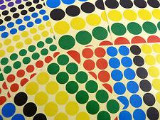 Colorato Adesivi Circolari, Cerchio, Rotondo Colore Etichette, 3 misure - BL162