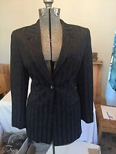 Escada Margaretha Ley Suit Germany 40 US 12 Wool Blend Vintage Designer