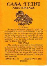 Casa Trini Artes Populares Cuernavaca Mexico Small Vintage Brochure
