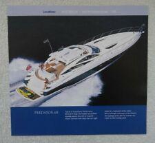 Sunseeker Predator 68 International Yacht Charter Specification Brochure 2003.