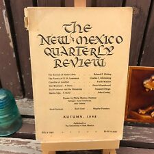 THE NEW MEXICO QUARTERLY REVIEW Autumn 1948 Poems, Book Reviews, Native Arts