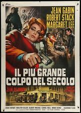 Le SOLEIL DES VOYOUS Italian 2F movie poster 39x55 JEAN GABIN ROBERT STACK 1967