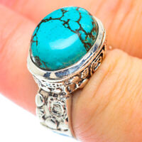 Tibetan Turquoise 925 Sterling Silver Ring Size 7.25 Ana Co Jewelry R56271F