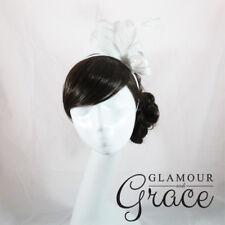 White Fascinator Hatinator Headpiece Headband Races Melbourne Cup