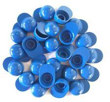 Lego Lot Of 25 Minifigure Blue Baseball Caps Sport Hat Accessories New