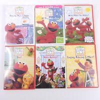 Lot Of 6 Elmo DVD's Elmo's World - Sesame Street  Children - Family - Education