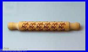 Cat Rolling Pin, Laser Engraved