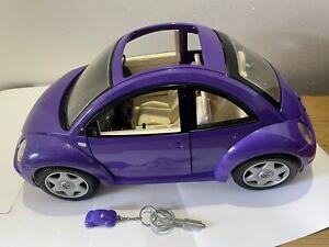 Superb Barbie VW Beetle Car With Key Purple Large VGC  No Reserve