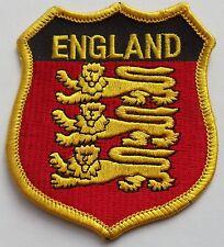 BADGE- EMBROIDERED- ENGLAND - SHIELD SHAPE-