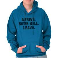 Arrive Raise Hell Leave Wrestling Gym Gift Adult Long Sleeve Hoodie Sweatshirt