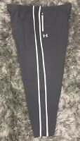 Under Armour Men's 4XL Athletic Running Track Pants Gray Loose Fit Zip Pockets